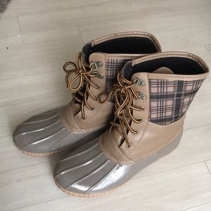 Shoes - Plaid Duck Boots